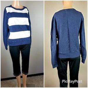 J.Crew Navy Blue Striped Sweatshirt
